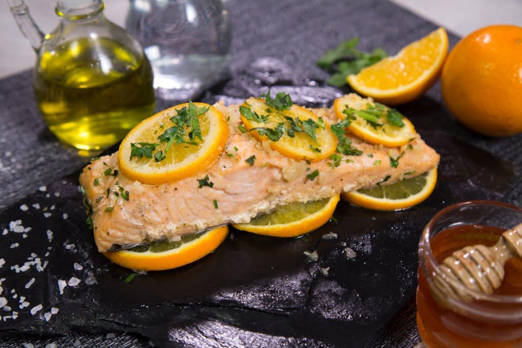 Filete de salmón a la miel
